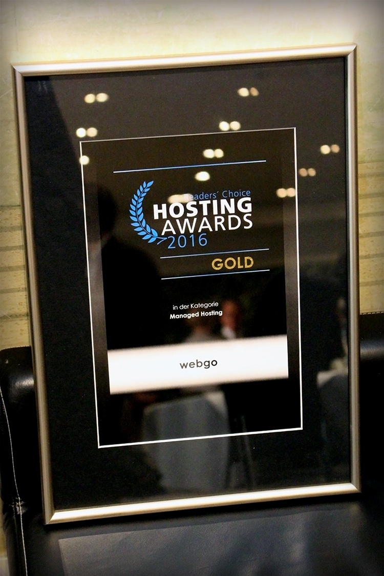 Hosting Awards 2016 Die Auszeichnung in Gold