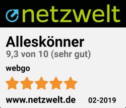 Homepage Baukasten von webgo ist Testsieger bei netzwelt 02-2019