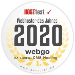 webgo ist Webhoster des Jahres 2020 im CMS Hosting