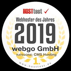webgo ist Webhoster des Jahres 2019