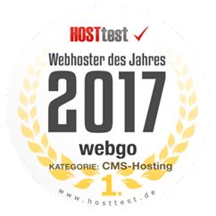 webgo Webhoster des Jahres 2017