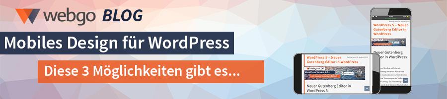 wordpress mobil responsive design