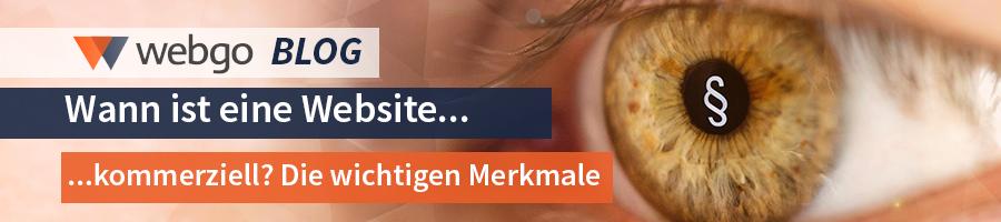 Homepage kommerziell Ja Nein?