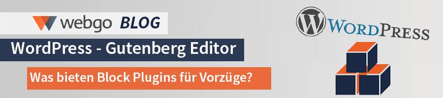 Blockerweiterungen für Gutenberg Editor
