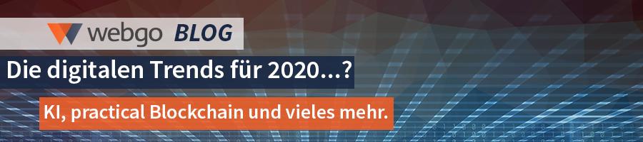 Die digitalen Trends für 2020 - KI, practical Blockchain, Hyperautomatisierung und vieles mehr