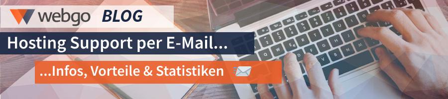 Hosting Support per E-Mail - Infos, Vorteile und Statistiken