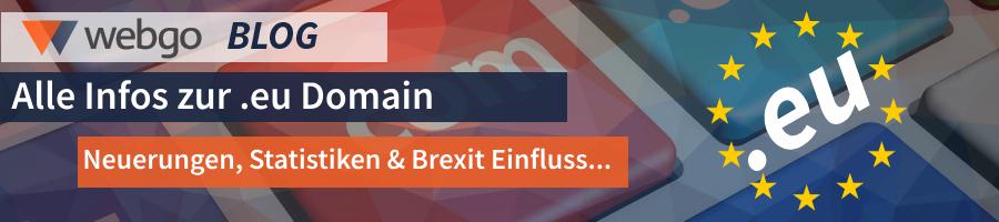 Alles über die .eu Domain - Neuerungen, Statistiken, Brexit Einfluss