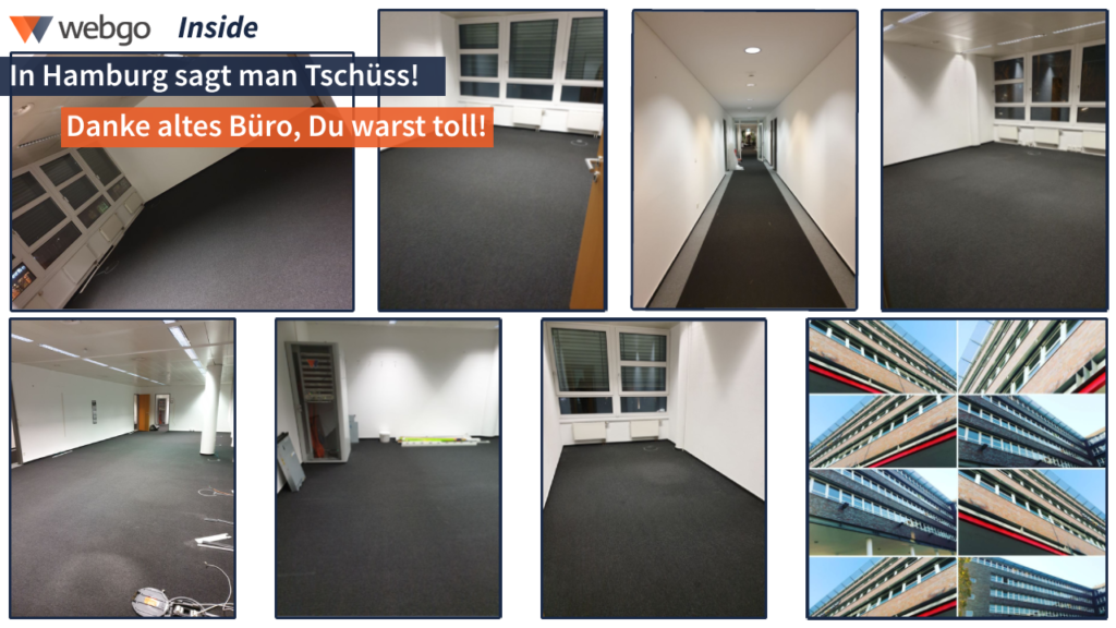 Collage des alten webgo Büros in Hamburg Wandsbek.