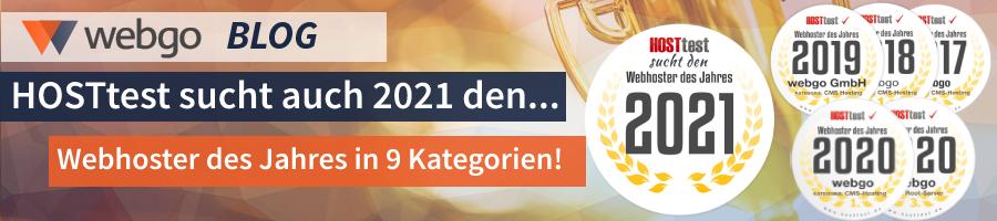 Webhoster des Jahres 2021 gesucht – webgo erhielt bisher 4 x in Folge die CMS Hosting Auszeichnung