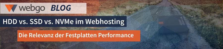 Performance im Webhosting HDD vs SSD vs NVMe