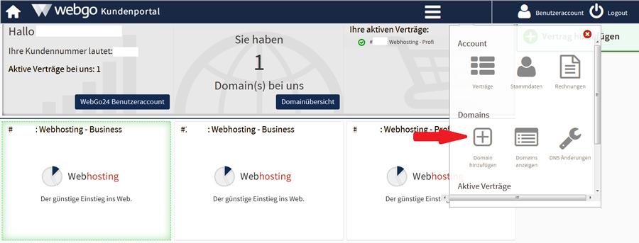 webgo externe Domain