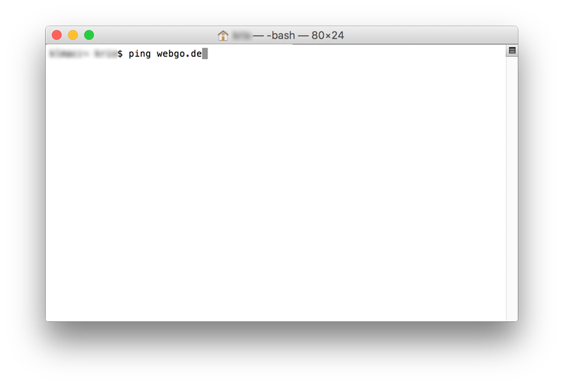 Ping webgo Apple Terminal